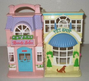 Fisher price loving family sweet streets 74922 pet shop for A family pet salon