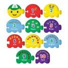 Leap Frog 2006 Counting Caterpillar 6 Ft Floor Puzzle - 21 Jumbo Pieces