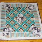 Vintage Handkerchief Dionne Quintuplets Artist Tom Lamb circa 1930s