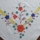 "Vintage Cotton Floral Printed Card Table Tablecloth - 33"" x 36"""