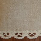 "Vintage Fine Linen Ecru Table Runner Dresser Scarf - 15 1/2"" x 62"""