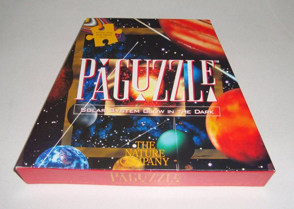 Vintage The Nature Company PaGuzzle Solar System Glow in the Dark Puzzle 208 Pc