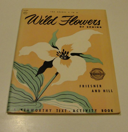 Vintage 1946 Wild Flowers of Spring Text Activity Book