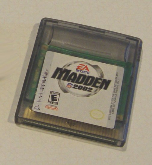 Nintendo GBA Gameboy Advance EA Sports Madden 2002 Cartridge only
