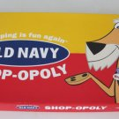 2001 USAopoly Old Navy Shop-opoly Board Game