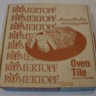 "Vintage Romertopf Oven Baking Tile 13 1/2"" Set of 2 MIB"