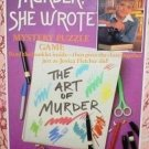 Vintage 1984 American Publishing Murder, She Wrote The Art of Murder Mystery Puzzle 550 Pc