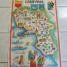 Vintage Campania Souvenir Map Tea Towel