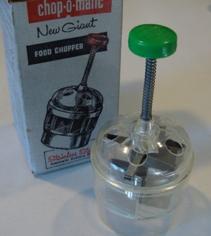 Vintage 1956 Popeil Chop-O-Matic Food Chopper #30 in Orig. Box