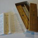 Vintage Drueke Hardwood Cribbage Board #114 in Orig bx