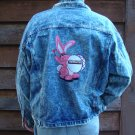Vintage 1980s NWOT Eveready Energizer Bunny Embroidered Jean Jacket Size M