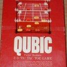 Vintage 1965 Parker Brothers Qubic 3-D Tic Tac Toe Game