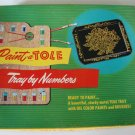 Vintage 1950s Paint-a-Tole Tray by Numbers Kit in Orig. Box