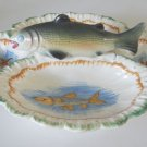 Vintage Rainbow Trout Relish Dish - Italy