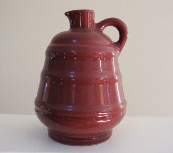 Vintage Mohawk Fiesta Ware Sloe Gin Liquor Ceramic Bottle Jug
