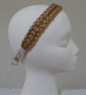 Vintage Blond Synthetic Hair Braided Plaited Headband