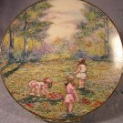 "Vintage 1977 Limited Ed. Calhoun Collector Plate Dominic Mingolla's ""Picking Flowers"""