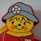 Vintage 1978 Fisher Price Scarecrow Hanging Crib Toy #423