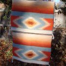Vintage Southwest Design Wool Saddle Blanket or Rug