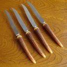 Vintage Washington Forge Bakelite Simulated Horn Handle Set of 4