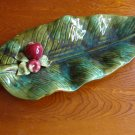 Vintage California Pottery Wade Of California USA Palm Leaf & Apple Serving Dish