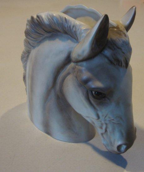 Vintage Napco Japan White Horse Head Vase Planter