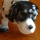 Vintage English Setter Pointer Large Dog Ceramic Planter 280-D