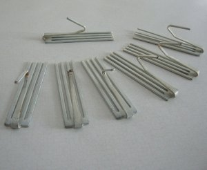 Vintage 40s-50s Drapery Pleater Hooks - Set of 18
