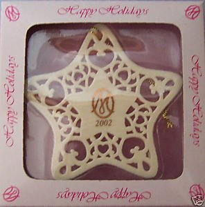 2002 Happy Holidays MARIE OSMOND Porcelain Snowflake Ornament