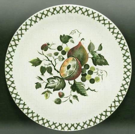 Vintage Johnson Brothers Arbor Dinner Plate Set of 2