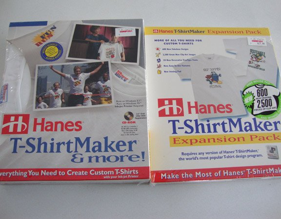 Vintage 1996 Hanes T-ShirtMaker & More  PLUS Hanes T-ShirtMaker Expansion Pack MIB