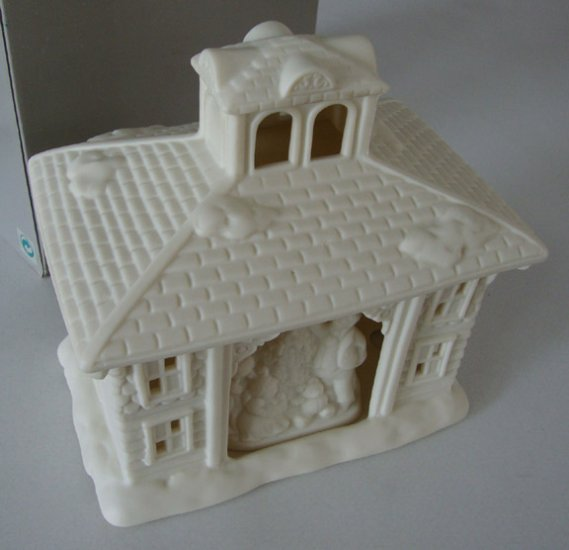 Vintage Partylite Victorian Mansion Porcelain Tealight House MIB