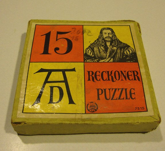 Vintage 1950s KFL West Germany No. 15 AD Reckoner Puzzle Game