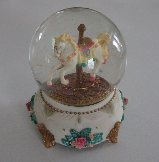 Musical 1998 Cadona Carousel Horse Snow Globe
