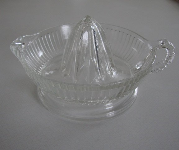 Vintage Depression Federal Glass Reamer Juicer