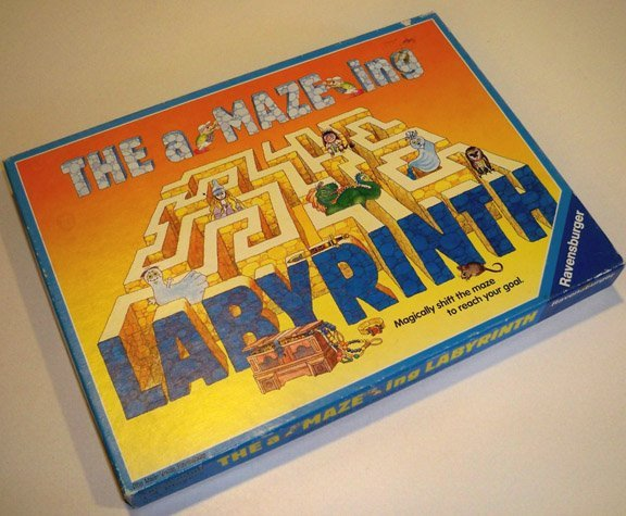 Vintage 1989 Ravensburger The aMAZEing Labyrinth Board Game