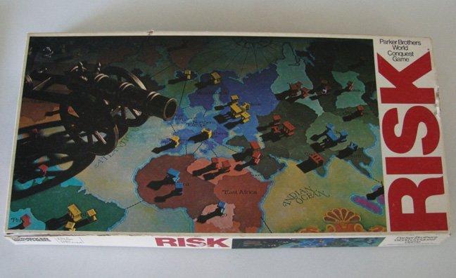 Vintage 1980 Parker Brothers Risk Board Game Parts