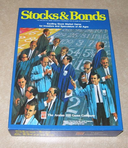 Vintage 1978 Avalon Hill Stocks & Bonds Board Game