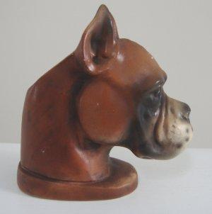 Vintage Nancy Pew Giftwares Co Boxer Dog Head Vase Planter