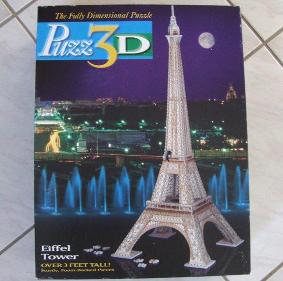Vintage 1995 Puzz 3D Wrebbit Eiffel Tower - 703 Pc Puzzle