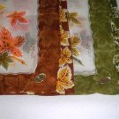 Vintage Colette Handkerchief w/ Label - Leaves - Set of 2 Handpainted Japan