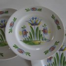 Old Bristol Delft Reproduction - Tulip Pattern Bread Plates Set of 3