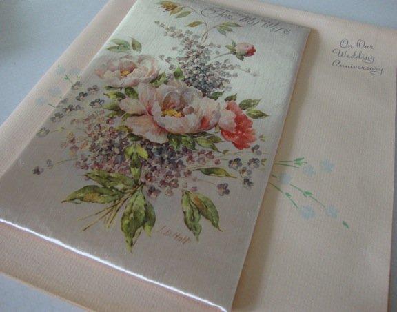 Vintage 1947 Rust Craft Wedding Anniversary in Orig Mailing Box