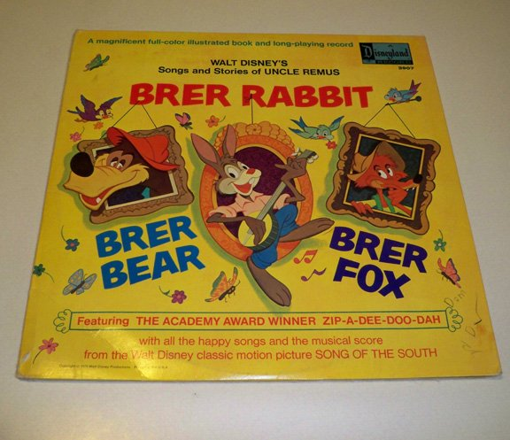 Vintage 1970 DisneyLand Records Songs and Stories of Uncle Remus Brer Rabbit #3907