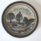 Carl Fischer Oberlausitzer Hand-painted Ceramic Luncheon / Dessert Plate Made in Germany Set of 4
