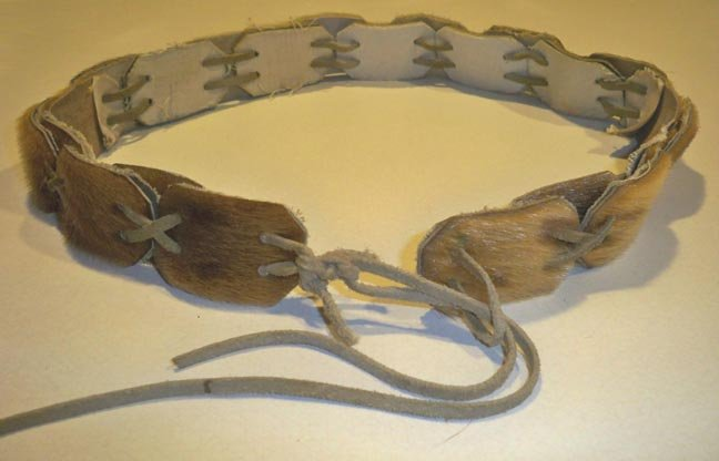 Vintage Fur Leather Belt