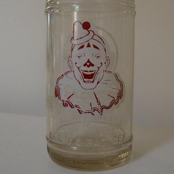 Vintage Johnnie Ryan Co. Clown Cola Beverage Soda 12 oz. Bottle