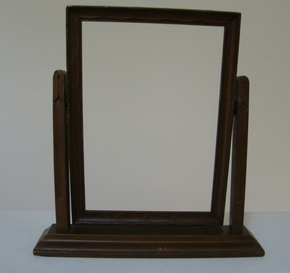 "Antique Dresser Wooden Picture Frame w/ Stand - 5"" x 7"""