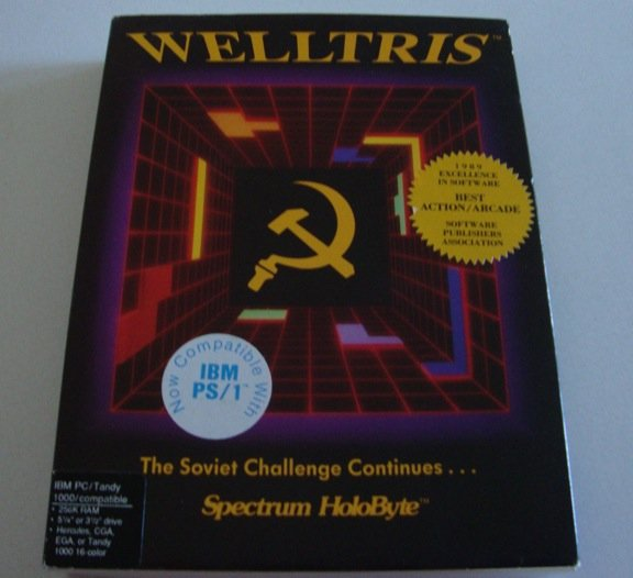 Vintage 1989 Spectrum Holobyte Welltris Software IBM