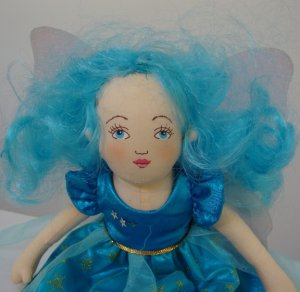 Vintage MerryMakers Nature Fairies Blue Fairy Plush Doll 11""